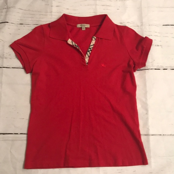 415b34040ccee Burberry Tops - Red Burberry women s polo